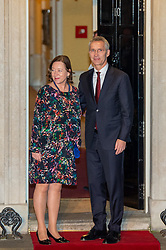 © Licensed to London News Pictures. 03/12/2019. London, UK. NATO Secretary General Jens Stoltenberg arrives in Downing Street as NATO Leaders' gather for a reception hosted by United Kingdom Prime Minister Boris Johnson.<br /> Allied leaders are in London for a NATO summit. The summit also marks NATO's 70th anniversary.<br /> Photo credit: Peter Manning/LNP <br /> <br /> <br /> .
