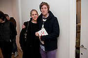 ANNA BOGLIONE; HENRY HUDSON, Hoxton Sq projects auction in aid of Shelter. .- Hoxton sq. Gallery. 24 November 2010. . -DO NOT ARCHIVE-© Copyright Photograph by Dafydd Jones. 248 Clapham Rd. London SW9 0PZ. Tel 0207 820 0771. www.dafjones.com.