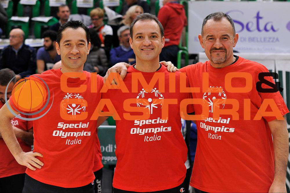 Dario Morelli - Tolga Sahin - Maurizio Biggi<br /> Banco di Sardegna Dinamo Sassari - Vanoli Cremona<br /> LegaBasket Serie A LBA Poste Mobile 2016/2017<br /> Sassari 26/11/2016<br /> Foto Ciamillo-Castoria