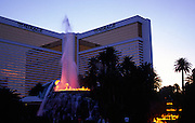 Erupting volcano feature at Mirage hotel and casino, The Strip, Las Vegas, Nevada, USA