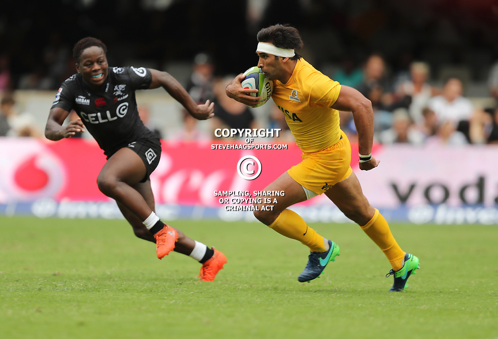 Matias Orlando of the Jaguares during the Super Rugby match between the Cell C Sharks and the Jaguares  April 8th 2017 - at Growthpoint Kings Park,Durban South Africa Photo by (Steve Haag)