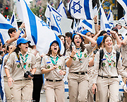 Celebrate Israel parade on Fifth Avenuue in New York City on June 4, 2017.