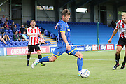 Dannie Bulman during the Pre-Season Friendly match between AFC Wimbledon and Cheltenham Town at the Cherry Red Records Stadium, Kingston, England on 1 August 2015. Photo by Stuart Butcher.