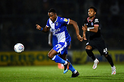 Victor Adeboyejo of Bristol Rovers is marked by ,Marcel Lavinier of Chelsea - Mandatory by-line: Ryan Hiscott/JMP - 24/09/2019 - FOOTBALL - Memorial Stadium - Bristol, England - Bristol Rovers v Chelsea - Leasing.com Trophy