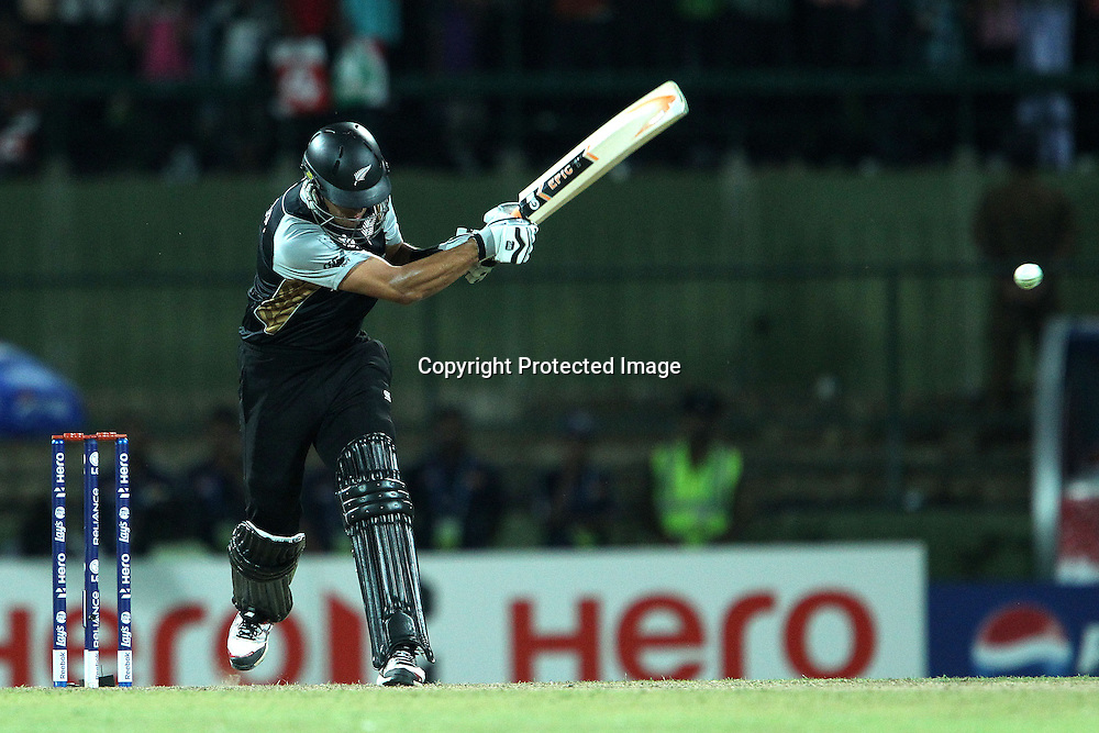 Ross Taylor knocks a four in the 19th over during the ICC World Twenty20 Pool match between Pakistan and New Zealand held at the  Pallekele Stadium in Kandy, Sri Lanka on the 23rd September 2012<br /> <br /> Photo by Ron Gaunt/SPORTZPICS/PHOTOSPORT