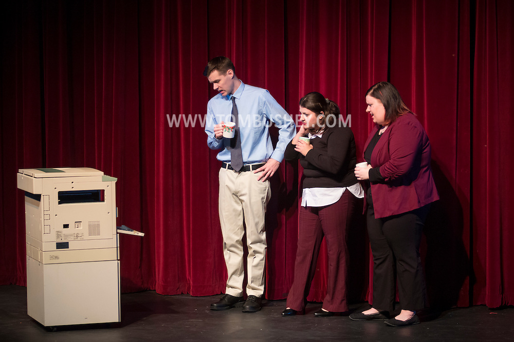 Middletown, New York - The SUNY Orange Apprentice Players perform five one-act plays at Orange Hall Theatre on Nov. 17, 2016.