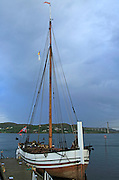 Old traditional sailing boat at Rorvik, Norway