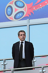 June 16, 2018 - Kazan, Kazan, Russia - Former French President Nicolas Sarkozy during a  Group C 2018 FIFA World Cup soccer match between France and Australia on June 16, 2018, at the Kazan Arena in Kazan, Russia. (Credit Image: © Anatolij Medved/NurPhoto via ZUMA Press)