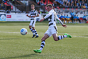 Forest Green Rovers Elliott Frear(11) shoots at goal during the The FA Cup 4th qualifying round match between Sutton United and Forest Green Rovers at Gander Green Lane, Sutton, United Kingdom on 15 October 2016. Photo by Shane Healey.