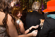 DAISY LOWE; TEQUILA; PHILIP TREACY, Fashion and Gardens, The Garden Museum, Lambeth Palace Rd. SE!. 6 February 2014.