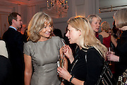 LADY MYNERS; IWONA BLAZWICK, The Veuve Clicquot Businesswoman of the Year  Award. Claridge's, London.  March 28 2011. ,-DO NOT ARCHIVE-© Copyright Photograph by Dafydd Jones. 248 Clapham Rd. London SW9 0PZ. Tel 0207 820 0771. www.dafjones.com.