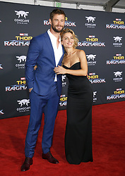 Chris Hemsworth and Elsa Pataky at the World premiere of 'Thor: Ragnarok' held at the El Capitan Theatre in Hollywood, USA on October 10, 2017.