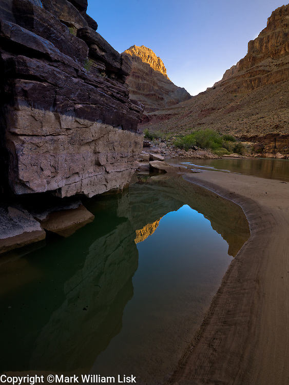 Colorado River at 214 mile camp, Grand Canyon National Park.