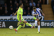 Sheffield Wednesday midfielder Ross Wallace (33) scores to make it 1-0 during the Sky Bet Championship Play Off First Leg match between Sheffield Wednesday and Brighton and Hove Albion at Hillsborough, Sheffield, England on 13 May 2016.