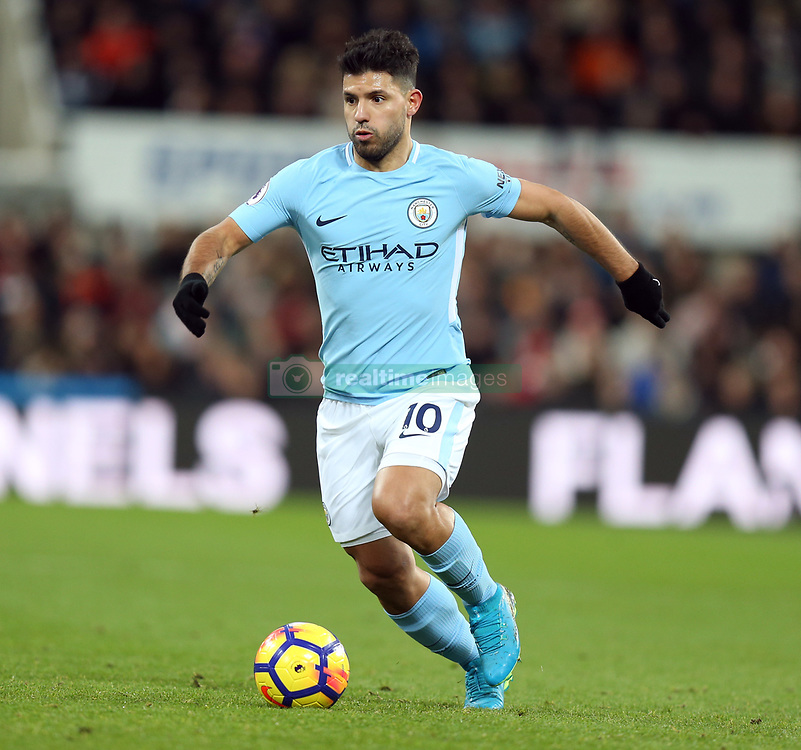 27 December 2017 Newcastle: Premier League Football - Newcastle United v Manchester City : Sergio Aguero of Man City.<br /> (photo by Mark Leech)
