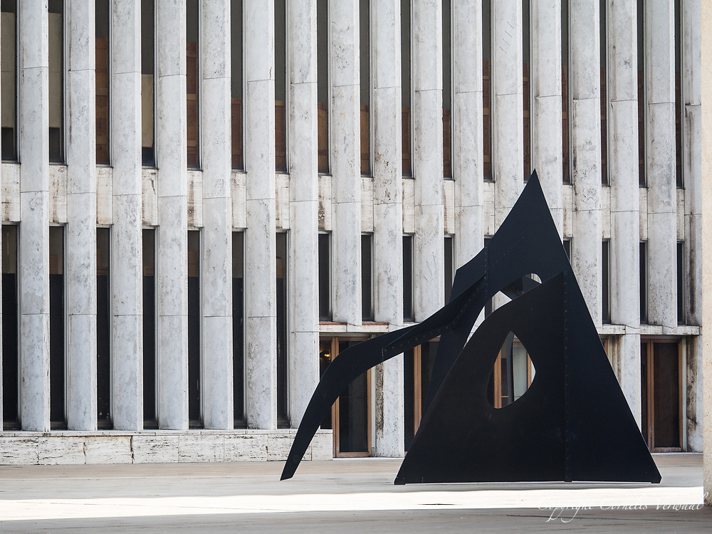 Le Guichet (1963) by Alexander Calder ) at Lincoln Center.