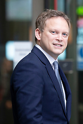 © Licensed to London News Pictures. 16/02/2020. London, UK. Secretary of State for Transport Grant Shapps departs the BBC after appearing on the Andrew Marr Show. Photo credit: George Cracknell Wright/LNP