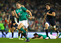 Rugby Union - 2017 Guinness Series (Autumn Internationals) - Ireland vs. Argentina<br /> <br /> Ireland's Jacob Stockdale runs through to score a try, at the Aviva Stadium.<br /> <br /> COLORSPORT/KEN SUTTON