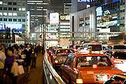 a crowded city view near Shinjuku station Tokyo Japan