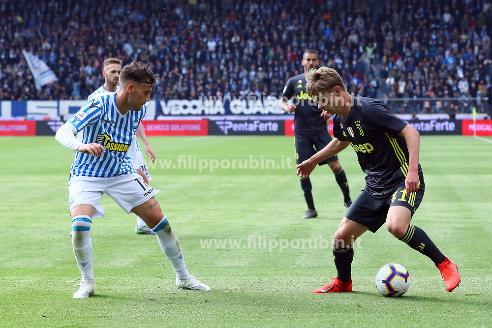"Foto LaPresse/Filippo Rubin<br /> 13/04/2019 Ferrara (Italia)<br /> Sport Calcio<br /> Spal - Juventus - Campionato di calcio Serie A 2018/2019 - Stadio ""Paolo Mazza""<br /> Nella foto: HANS NICOLUSSI CAVIGLIA (JUVENTUS)<br /> <br /> Photo LaPresse/Filippo Rubin<br /> April 13, 2019 Ferrara (Italy)<br /> Sport Soccer<br /> Spal vs Juventus - Italian Football Championship League A 2018/2019 - ""Paolo Mazza"" Stadium <br /> In the pic: HANS NICOLUSSI CAVIGLIA (JUVENTUS)"