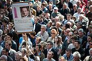 Meeting in Tours van François Hollande, kanidaat van de Partie Socialiste bij de Franse  Presidentsverkiezingen.