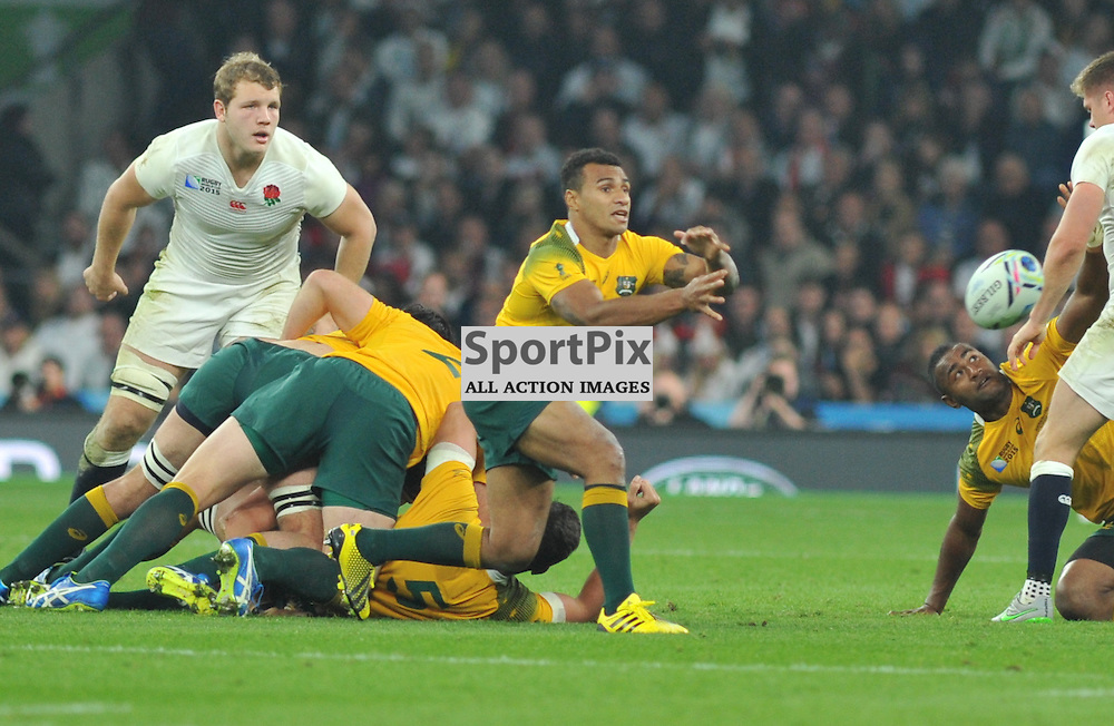 Will Genia of Australia during the IRB RWC 2015 Pool A match between England and Australia at Twickenham Stadium on Saturday 3 October 2015, London, England. (c) Ian Nancollas | SportPix.org.uk