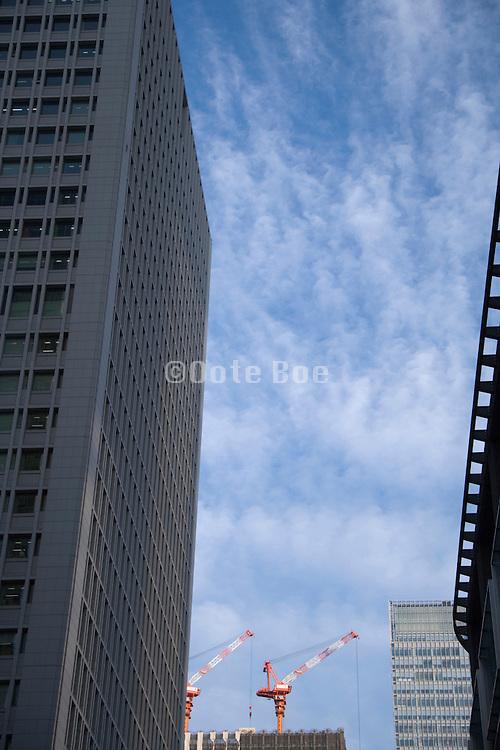 new building under construction Tokyo Japan Maranouchi