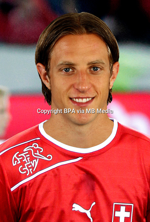 Football Fifa Brazil 2014 World Cup Matchs-Qualifier / Europe - Group E / <br /> Switzerland vs Albania 2-0  ( Swissporarena-Lucerne, Switzerland )<br /> Reto ZIEGLER of Switzerland , during the match between Switzerland and Albania
