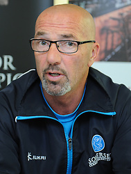Somerset Director of Cricket Matt Maynard talks to the press after the game.  - Mandatory byline: Alex Davidson/JMP - 07966386802 - 12/09/2015 - CRICKET - The County Ground -Taunton,England - Somerset CCC v Hampshire CCC - Day 4