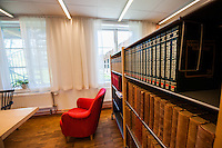 The library at Carl Malmsten School of Furniture Studies