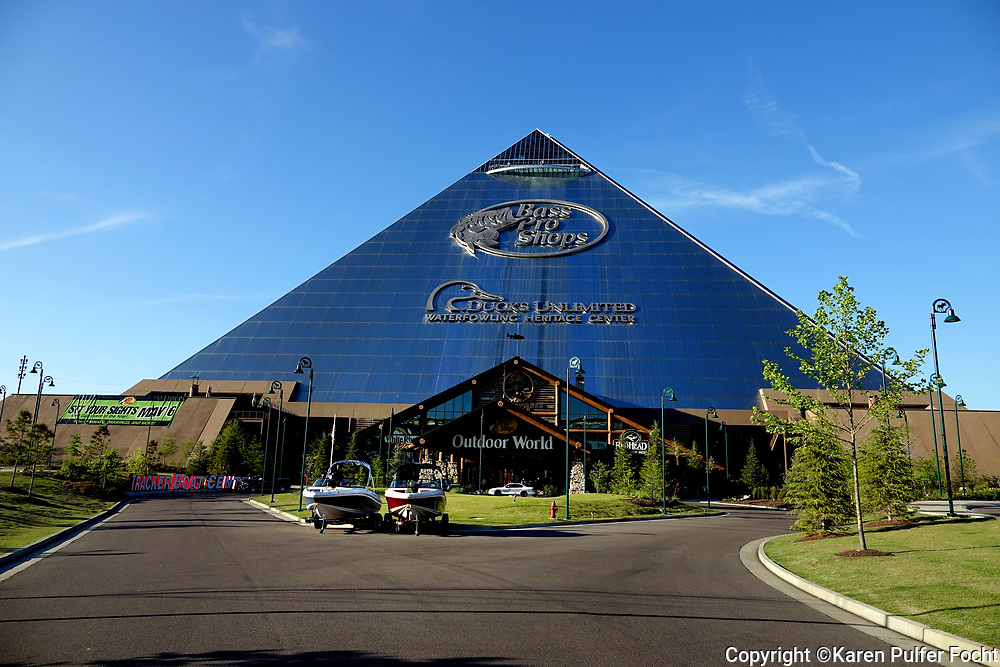 The Pyramid in Downtown Memphis was turned into a Bass Pro Shop with a hotel, bowling alley and other entertainment and it has become a popular tourist attraction.