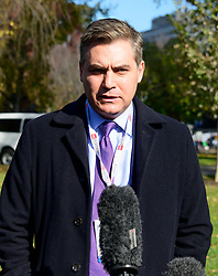 CNN White House Correspondent Jim Acosta returns to work at the White House in Washington, DC after obtaining a judgement returning his hard pass to him on Friday, November 16, 2018. Credit: Ron Sachs / CNP (RESTRICTION: NO New York or New Jersey Newspapers or newspapers within a 75 mile radius of New York City). 16 Nov 2018 Pictured: CNN White House Correspondent Jim Acosta returns to work at the White House in Washington, DC after obtaining a judgement returning his hard pass to him on Friday, November 16, 2018. Credit: Ron Sachs / CNP (RESTRICTION: NO New York or New Jersey Newspapers or newspapers within a 75 mile radius of New York City). Photo credit: Ron Sachs - CNP / MEGA TheMegaAgency.com +1 888 505 6342