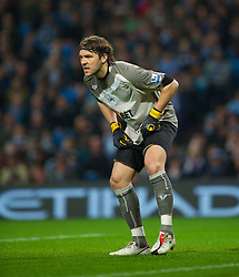 WIGAN, ENGLAND - Monday, March 29, 2010: Wigan Athletic's Vladimir Stojkovic in action against Manchester City during the Premiership match at the City of Manchester Stadium. (Photo by David Rawcliffe/Propaganda)