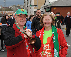 Patrick and Cathy Meagher from Castlebar at the All Ireland final replay.<br /> Pic Conor McKeown