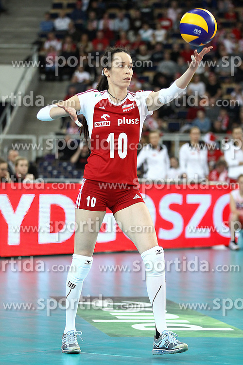 04.01.2014, Atlas Arena, Lotz, POL, FIVB, Damen WM Qualifikation, Polen vs Spanien, im Bild KATARZYNA MROCZKOWSKA SYLWETKA // KATARZYNA MROCZKOWSKA SYLWETKA during the ladies FIVB World Championship qualifying match between Poland and Spain at the Atlas Arena in Lotz, Poland on 2014/01/04. EXPA Pictures &copy; 2014, PhotoCredit: EXPA/ Newspix/ Maciej Goclon<br /> <br /> *****ATTENTION - for AUT, SLO, CRO, SRB, BIH, MAZ, TUR, SUI, SWE only*****