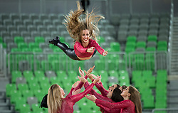 Zmajcice - Dragon Ladies perform during basketball match between KK Petrol Olimpija and KK Igokea in Round #1 of ABA League 2017/18, at Arena Stozice, Ljubljana, Slovenia on October 2, 2017. Photo by Vid Ponikvar / Sportida