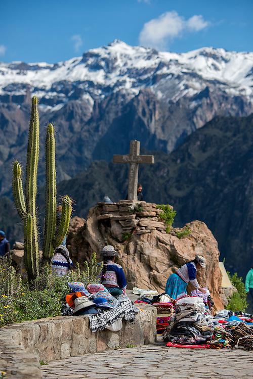 South America,Peru, Colca Canyon, crux de condores view point