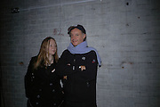 Chrissie Iles and Peter Fleissig. Caribbbean Pirates at the Coppermill  by Paul McCarthy Whitechapel off-Site installation and diner at Shoreditch Town Hall.    22 October 2005. ONE TIME USE ONLY - DO NOT ARCHIVE © Copyright Photograph by Dafydd Jones 66 Stockwell Park Rd. London SW9 0DA Tel 020 7733 0108 www.dafjones.com