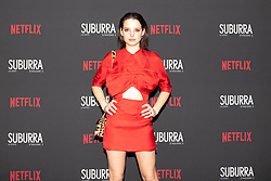 Federica Sabatini at the Red Carpet of the series Suburra 2 at Circolo Degli Illuminati in Rome, Italy, 20 February 2019 .Dress: Miu Miu  (Credit Image: © Lucia Casone/Soevermedia via ZUMA Press)