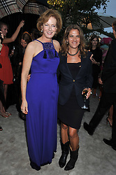 Left to right, JULIA PEYTON-JONES and TRACEY EMIN at the annual Serpentine Gallery Summer Party sponsored by Burberry held at the Serpentine Gallery, Kensington Gardens, London on 28th June 2011.