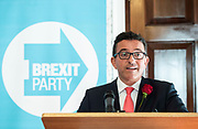 Brexit Party launch event<br /> Nigel Farage and Richard Tice, party chairman launch the next tranche of Brexit Party candidates at an event in London, Great Britain <br /> House Terrace<br /> 23rd April 2019<br /> <br /> New candidates standing for the Brexit Party in the European Parliament Elections in May 2019 <br /> <br /> Lance Forman <br /> Businessman and owner of H.Forman and Son <br /> <br /> <br /> Photograph by Elliott Franks