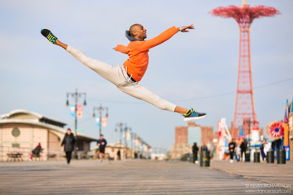 Dance As Art The New York City Photography Project Coney Island Boardwalk Beach Series with dancer Daniel White