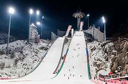 16.02.2018, Alpensia Ski Jumping Centre, Pyeongchang, KOR, PyeongChang 2018, Skisprung, Herren, Großschanze, im Bild Übersicht Schanzen // during the men's large hill individual skijumping of the Pyeongchang 2018 Winter Olympic Games at the Alpensia Ski Jumping Centre in Pyeongchang, South Korea on 2018/02/16. EXPA Pictures © 2018, PhotoCredit: EXPA/ Johann Groder