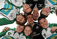Centra Connacht Rugby Camps Kick Off! Connacht rugby stars Sean Cronin and Mike McCarthy with James Deasy,  Conor Roche Alannah Roche Alannah Fogerty Robert Deacy  from Oughterard Rugby Club rom Oughterard Rugby club   launch the Centra Connacht Rugby Summer Camps at the Sportsground. The young fans got an insight into the tips they can pick up if they attend a camp during the summer holidays. To register visit www.connachtrugby.ie . Photo:Andrew Downes.