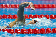 Ashgabat, Turkmenistan - 2017 September 24: Thi Anh Vien Nguyen from Vietnam competes in Women's 200m Freestyle Final while Short Course Swimming competition during 2017 Ashgabat 5th Asian Indoor & Martial Arts Games at Aquatics Centre (AQC) at Ashgabat Olympic Complex on September 24, 2017 in Ashgabat, Turkmenistan.<br /> <br /> Photo by © Adam Nurkiewicz / Laurel Photo Services