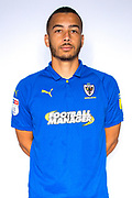 AFC Wimbledon defender Rod McDonald (4) during the official team photocall for AFC Wimbledon at the Cherry Red Records Stadium, Kingston, England on 8 August 2019.