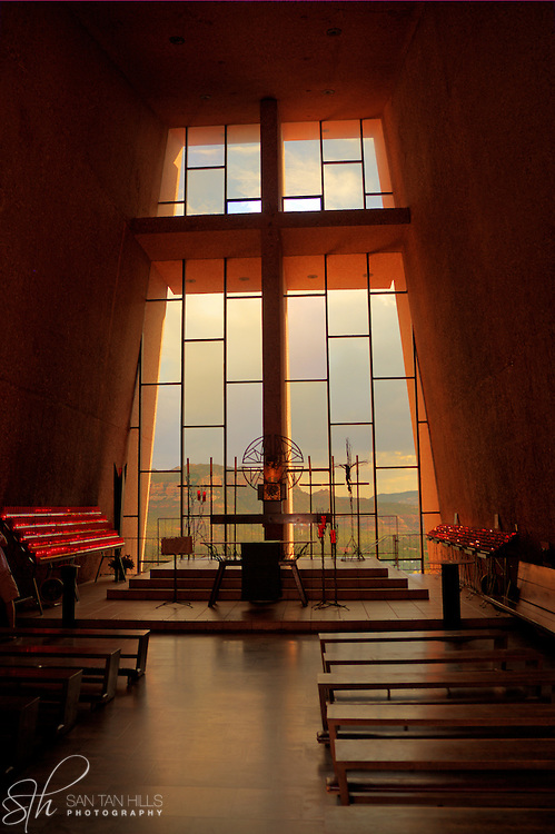 Interior of the Chapel of the Holy Cross - Sedona, AZ