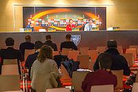 BILBAO - 09-12-15, Athletic Bilbao - AZ, Europa League, persconferentie, training, San Mames Stadion, AZ trainer John van den Brom