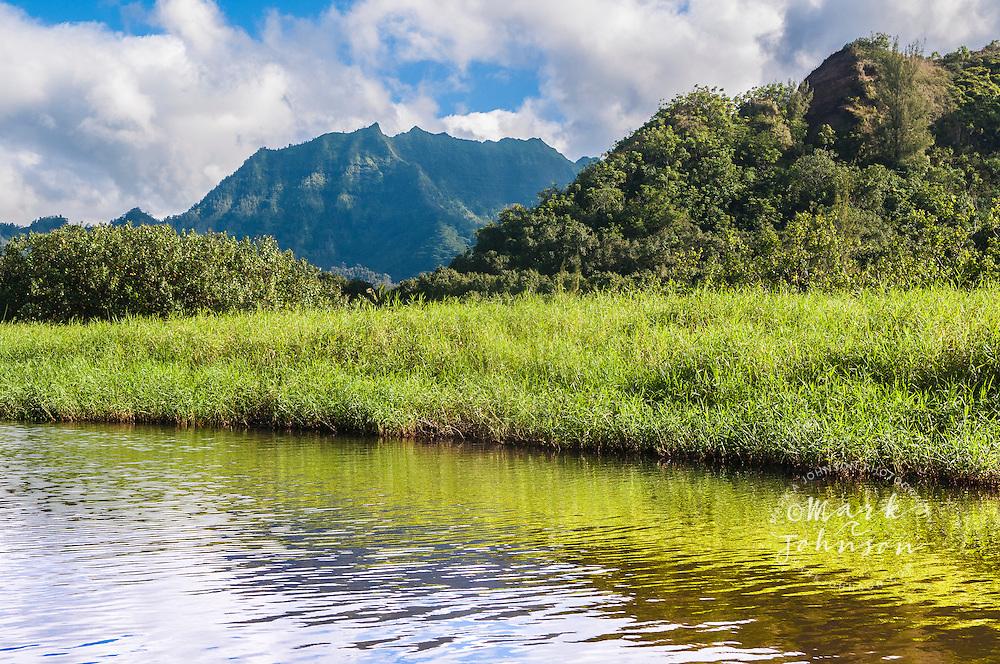 Mt. Hihimanu & Waioli Stream, Hanalei, Kauai, Hawaii