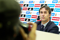 The coach of the national soccer team of Spain, Julen Lopetegui, presents the list of players for international matches against Albania and Israel. September 29,2017.(ALTERPHOTOS/Acero)